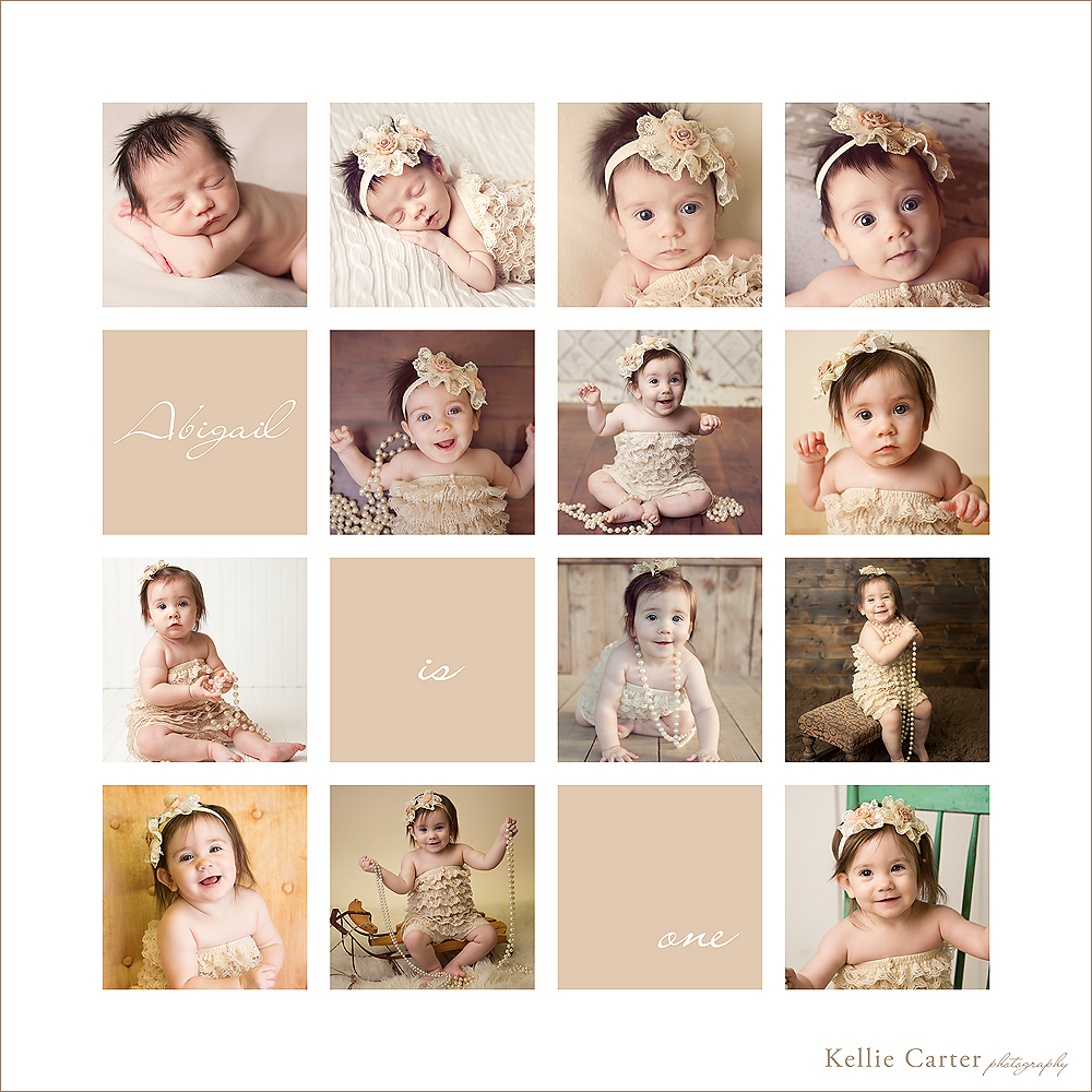 collage of baby