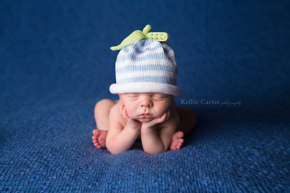 9 day Old Baby Boy in Froggy Pose