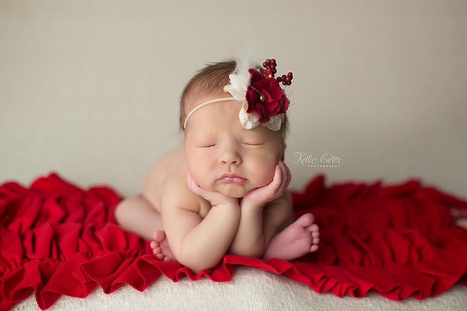 Beautiful Holiday Newborn Session