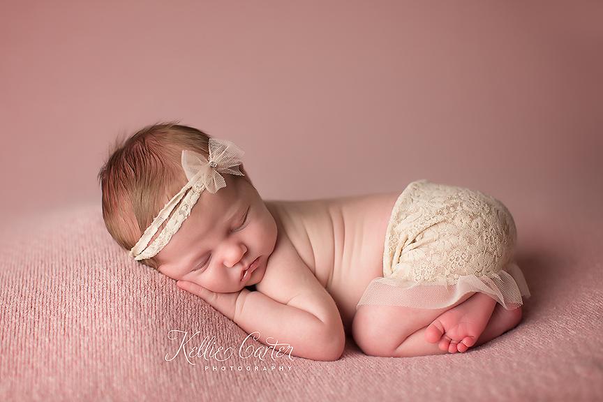 Newborn Baby Girl Wearing Mini skirt