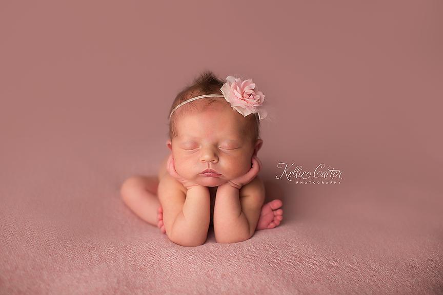 Sleeping Baby Girl Froggy Pose