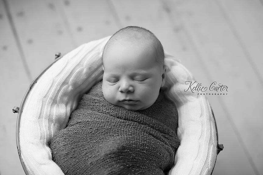 Newborn Black and White Photo