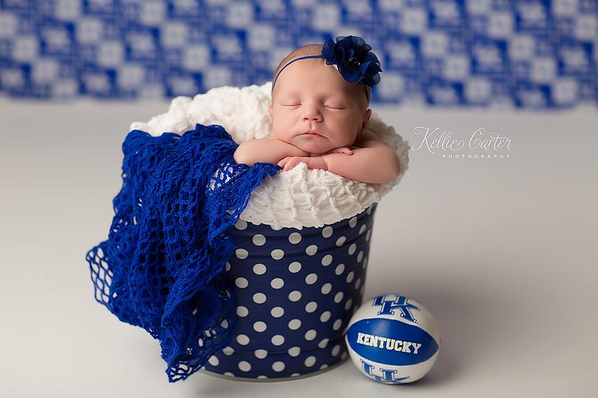 kellie carter UK Basketball Newborn Photo
