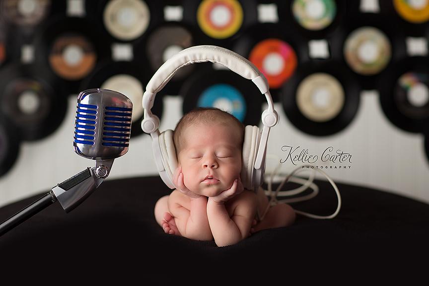 disc jockey newborn session