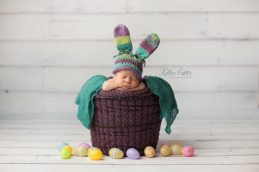 easter newborn photo session