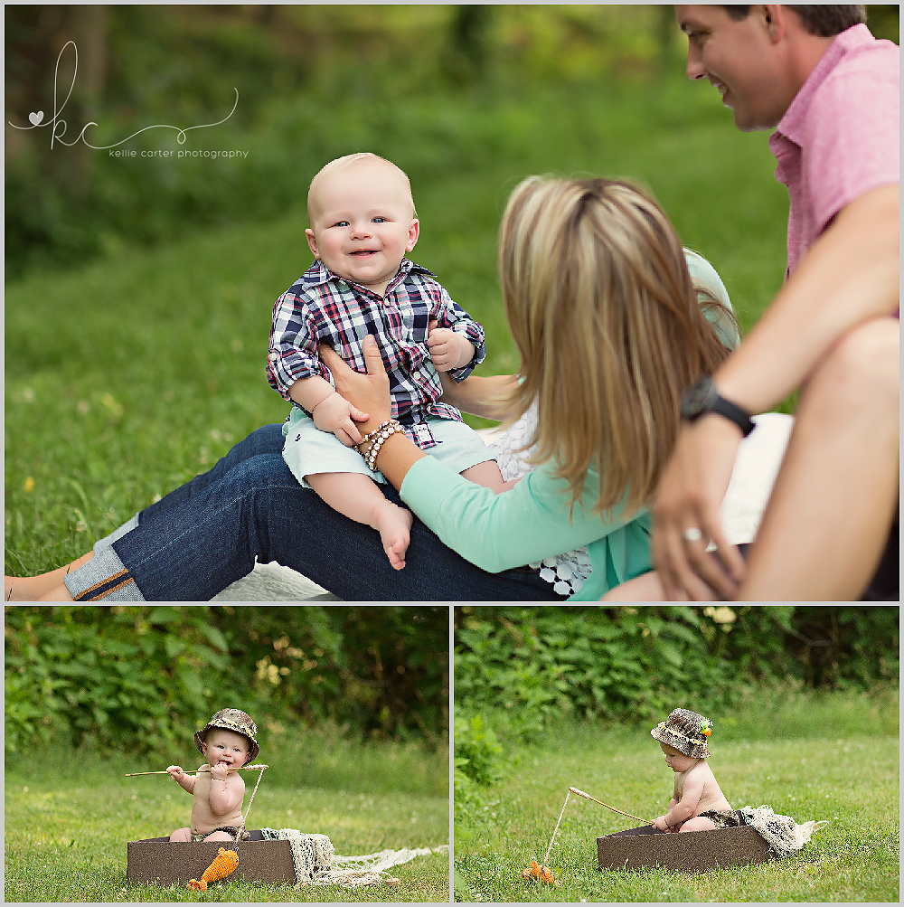 KellieCarterPhotography Myles 6 Month Old Milestone Session {Somerset, KY | Childrens Photographer}